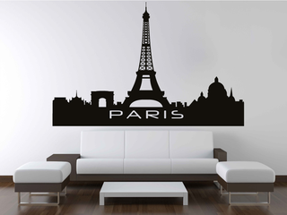 Wandtattoo - Skyline Paris