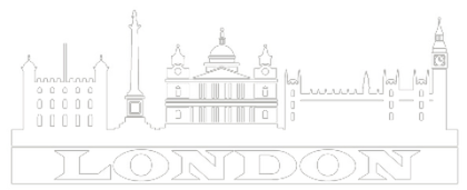 Wandtattoo - Skyline London