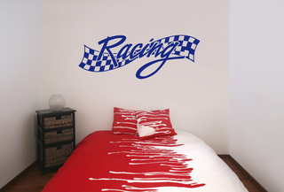Wandtattoo - Racing Flagge