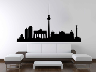 Wandtattoo - Skyline Berlin