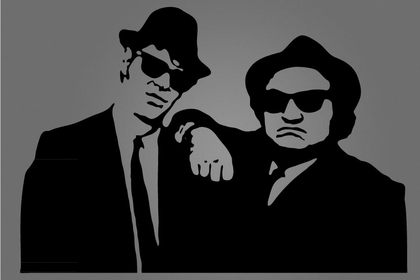 Wandtattoo - Blues Brothers
