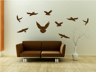 Wandtattoo - Vogel Set 3