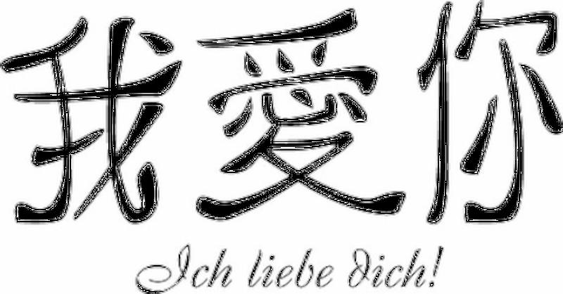 Wandtattoo Chinesisch Ich Liebe Dich 5 90
